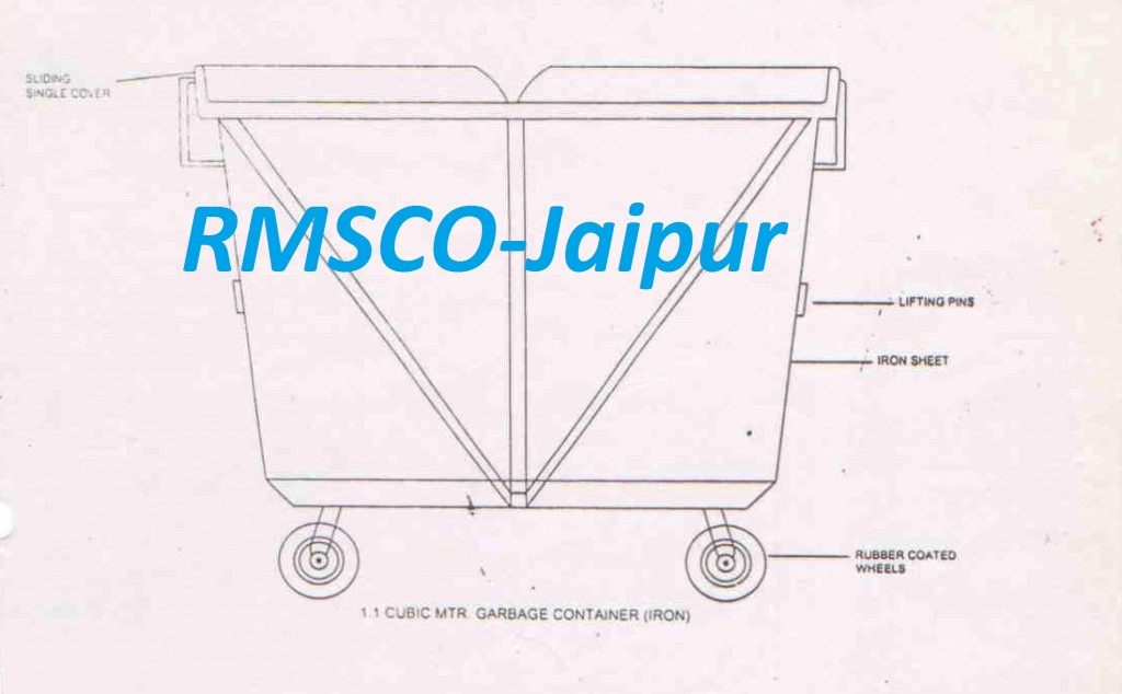 1.1 Cubic MTR Garbage Container