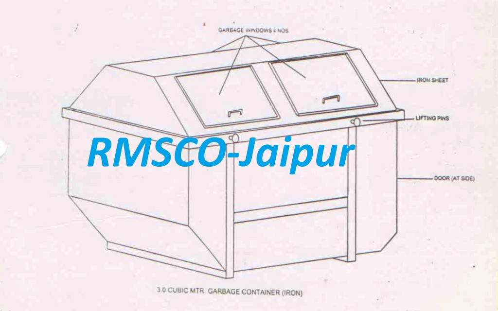 3.0 Cubic MTR Garbage Container